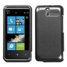 Carbon Fiber Hard Protector Case Snap on Phone Cover for U.S Cellular HTC 7 Pro