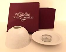 White Ceramic Christmas Candle Votive by Victorian Trading Company - New