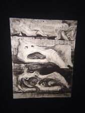 "Henry Moore ""Notebook Page, 1942 Watercolor"" Modern British Art 35mm Glass Slide"