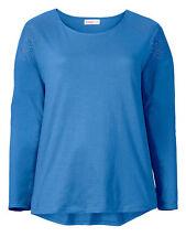 sheego Style Damen Longsleeve große Größen 100% Baumwolle