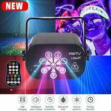 60/120 Pattern RGB Portable Led Stage Laser Light DJ KTV Projector Disco Lamp US