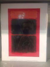 Mark Rothko luz roja sobre impresión Negro