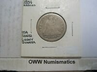 1854 Liberty Seated Quarter-Arrows