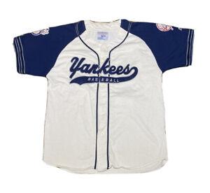 Vintage 90s Starter MLB New Tork Yankees Script Spell Out Baseball Jersey Size L
