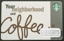 Starbucks Japan Exclusive **Your Neighborhood and Coffee Card** with Sleeve