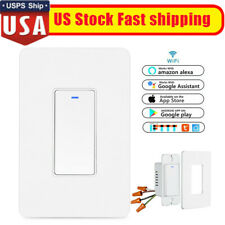 Smart WIFI Light Switch For Alexa Google Home IFTTT w/Remote Control&Schedule US