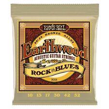 Ernie Ball  P02008 Earthwood Rock & Blues Acoustic 80/20 Bronze w/ plain G