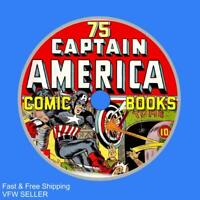 Lot of 75 Captain America Comic Books on one CD, Golden Age Superhero Comics