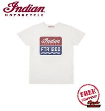GENUINE INDIAN MOTORCYCLE BRAND COTTON T-SHIRT TEE THUNDER STROKE 111 GRAY NEW
