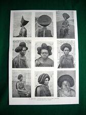 Nei paesi Galla nel 1897 - Pettinature delle donne di Gimma Abbagifar