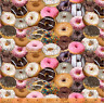 One of a Kind Packed Colorful Donuts 100% cotton fabric by the yard