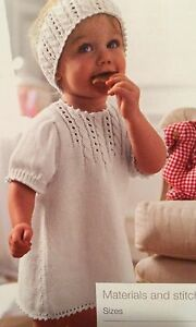 Girls Knitted Dress and Head Band ( 3 - 24 months) Knitting Pattern