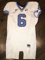 Game Worn Used Nike North Carolina Tar Heels UNC Football Jersey #6 Size 46
