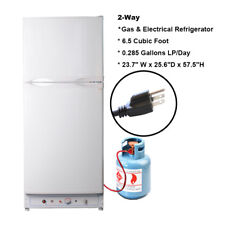 Smad 6.5 cu ft LPG Propane Gas Refrigerator 2.1 cu ft Freezer RV Camper Vacation