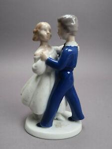 Bing & Gröndahl B&G Prozellan Wiener Walzer Tanzendes Paar Nr.2385 H Entw.Weiss