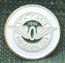 """1998 US Open The Olympic Club 1"""" Gold Plated Golf Ball Marker by Golf Design USA"""