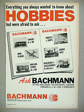 Bachmann Trains, Ships, Hobby Kits PRINT AD - 1973 ~ model ho train