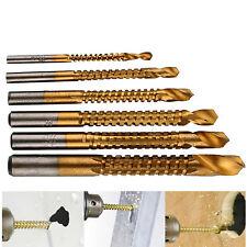 6X 3mm-8mm HSS Ti Step Drill Bits Woodworking Wood Metal Cutting Hole Saw Tools