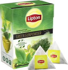Lipton tea green gunpowder 20 pyramids, 1-10 boxes, Special price!