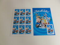 United States Scott 3436 the 2001 Porky Pig Pane Of 10 Imperf at Right MNH