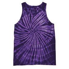 Colortone Tie-dye Tank Top Spiral Purple 2xl