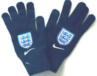 NIKE England Supporter Knitted Tech Gloves Unisex/Men/Women Sz S/M Obsidian Blue