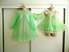 New listing Vintage Tosca Babydoll Nightgown & Vtg Peignoir To Match - Sml/Med