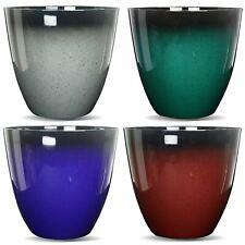 More details for gr8 garden large round glazed effect egg cup planter patio flower plant pot tub