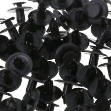50Pcs Black Car Door Fender Trunk Fastener Panel Clips Rivet 6mm Hole For Mazda