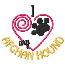 """I """"Heart"""" My Afghan Hound Long-Sleeved T-Shirt 1306-2 Size S - Xxl"""