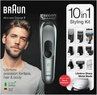 Braun All In One Trimmer 7 MGK7221 Barbero Cortapelos 10 en 1 con 13 Posiciones