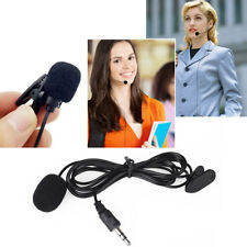 Jack Clip-on Lapel Colar Mini Lavalier Microphone Mic For iPhone Mobile Phone