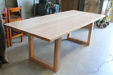NELL 8 SEATER DINING TABLE  - SOLID TASSIE OAK HARDWOOD TIMBER - LOCALLY MADE