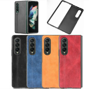 Durable Phone Case PC+Leather Protective Cover for Samsung Galaxy Z Fold 3 5G