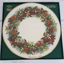 Lenox Limited Edition 13 Colonies Christmas Wreath Plate 1981 Virginia Nib