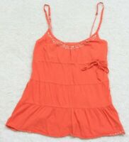 Tank Top Tee T-Shirt Sleeveless Orange Medium Spaghetti Strap American Eagle