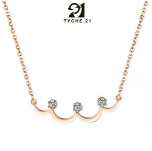 """For Womens Rose Gold Minimalist Bar Crown Pendant Stainless Steel Necklace 16"""""""
