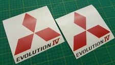 Mitsubishi Evolution Lancer Evo 4 side Spoiler panel Decals Stickers any colours