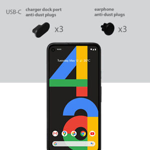Google Pixel 4a Charging Cover USB-C Plug Set 3 Pack Anti Dust Silicone Cap