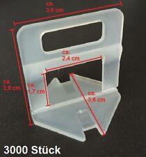 3000 Zuglaschen Fliesen Nivelliersystem 1 1,5 2 2,5 3mm Verlegehilfe Plan System