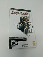 Gangs of London PSP Demo Disc Sony NEW SEALED Promo PS PlayStation Underground