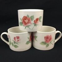Set of 3 Coffee Cups by International Tableworks China Company Glen Rose Floral