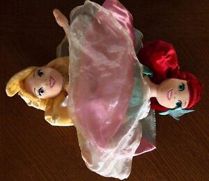 Disney Parks Princess Ariel Aurora topsy turvy reversible flip 14 in doll plush
