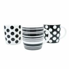 11oz Squat Mugs Dots and Stripes Black and White (Pack of 12) [CPD24423]