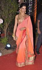 NW Designer Partywear Bollywood Actress Replica Georgette Saree Deepika Padukone