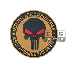 Tactical Punisher Skull Patch for Military Armband Badge BDU Cloth Backpack Cap