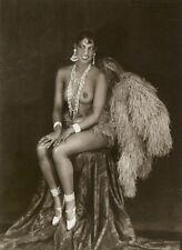Josephine Baker 1927 Burlesque Feathers Topless 7x5 Inch Reprint Photo w