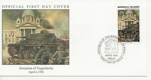 50th Ann WWII Comm/FDC - Marshall Isles - Invasion of Yugoslavia -1991 (2440)Z