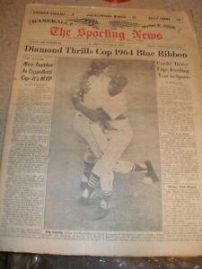 January 1965 The Sporting News - Bob Gibson & Tim McCarver St. Louis Cardinals