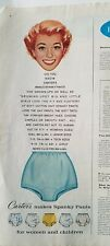 1959 did you know Carter's makes women's blue Spanky pants underwear redhead ad